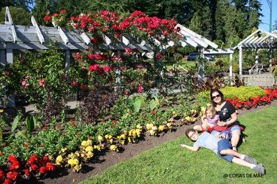 Jardim das rosas, uma das atrações do Stanley Park