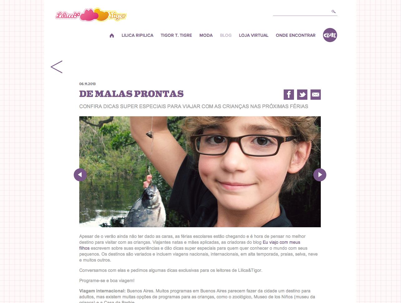 Dicas de viagem no blog Lilica