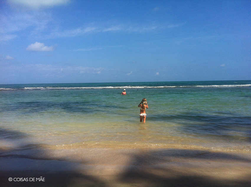 Praia com crianças