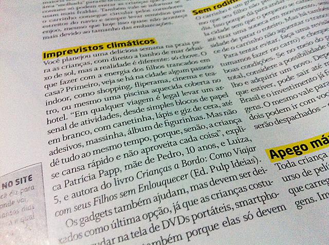 Revista Crescer - Patricia Papp
