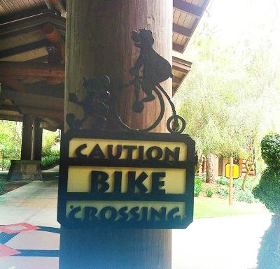 Bicicleta no hotel na Disney