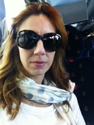 Esta sou eu pegando o Magical Express, onibus que faz o transporte entre o aeroporto e os hotéis